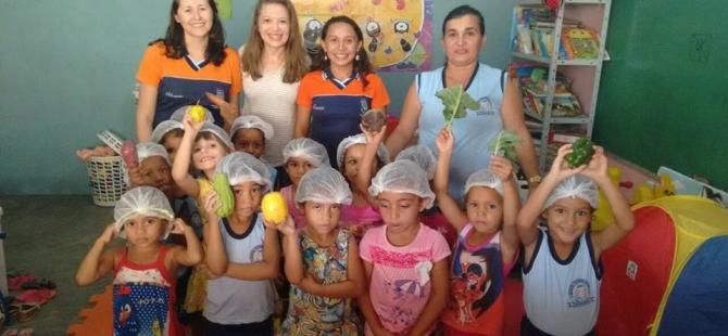 Ação de educação alimentar e nutricional com alunos