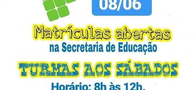 Prefeitura de Pureza, por meio da Secretaria de Educação, convidar a todos os alunos de 9° ano e demais interessados em se preparar para o Exame de Seleção do IFRN 2020.