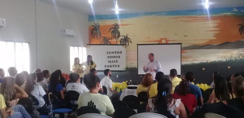 A Secretaria de Saúde promoveu Ação de Saúde Mental voltado á saúde dos profissionais, servidores Municipais.