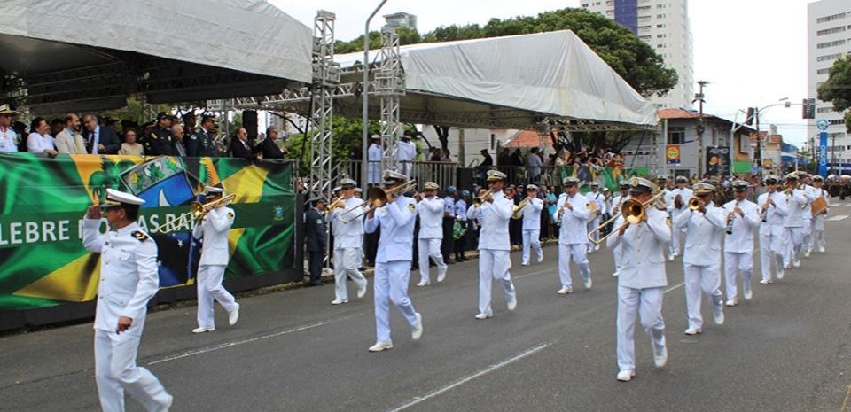 A Banda da Marinha estará  em Pureza com o Projeto Pátria Amada Brasil.