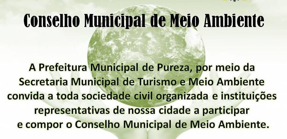 CONVITE: Participem da construção do Conselho Municipal de Meio Ambiente.