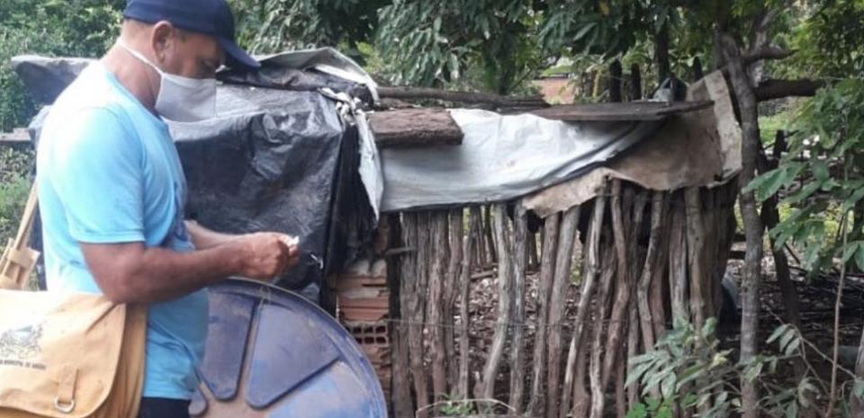 Em plena pandemia do covid19, agentes de saúde estão em combate ao mosquito Aedes Aegypti.
