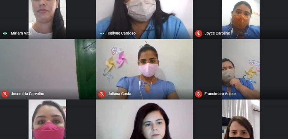 """A Coordenação Estadual do Programa Criança Feliz dá prosseguimento às rodas de conversas virtuais """"PCF no Contexto da Pandemia da Covid-19"""" com os municípios potiguares."""