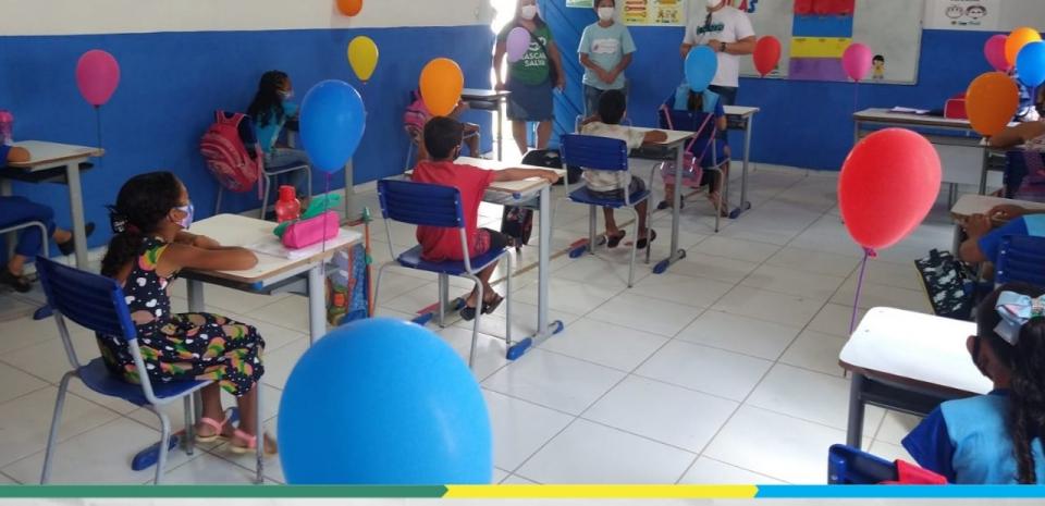 Escola Municipal Isabel Lucas de Brito deu início ao retorno das aulas presenciais
