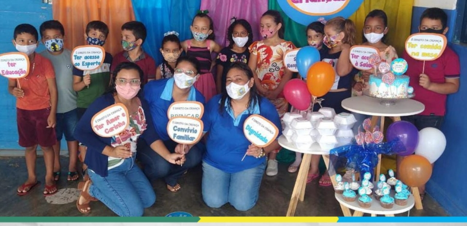 Comemoração ao dia das crianças da Escola Municipal Isabel Lucas de Brito